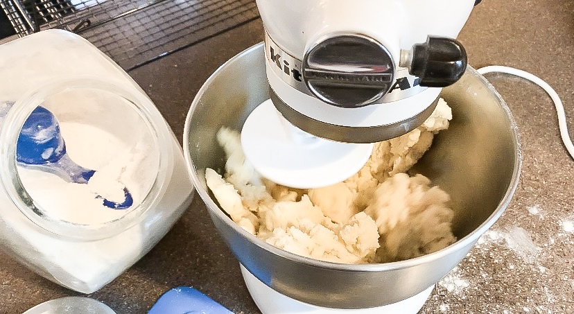 Mixing sugar cookie dough