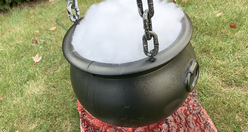 Close up of cauldron in the daylight