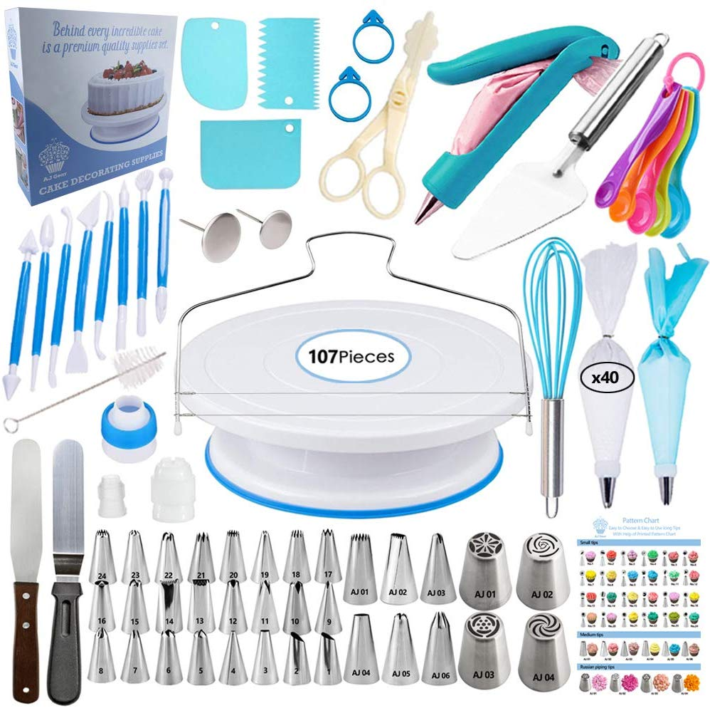 Cake Decorating Supplies Kit - 107 Pieces