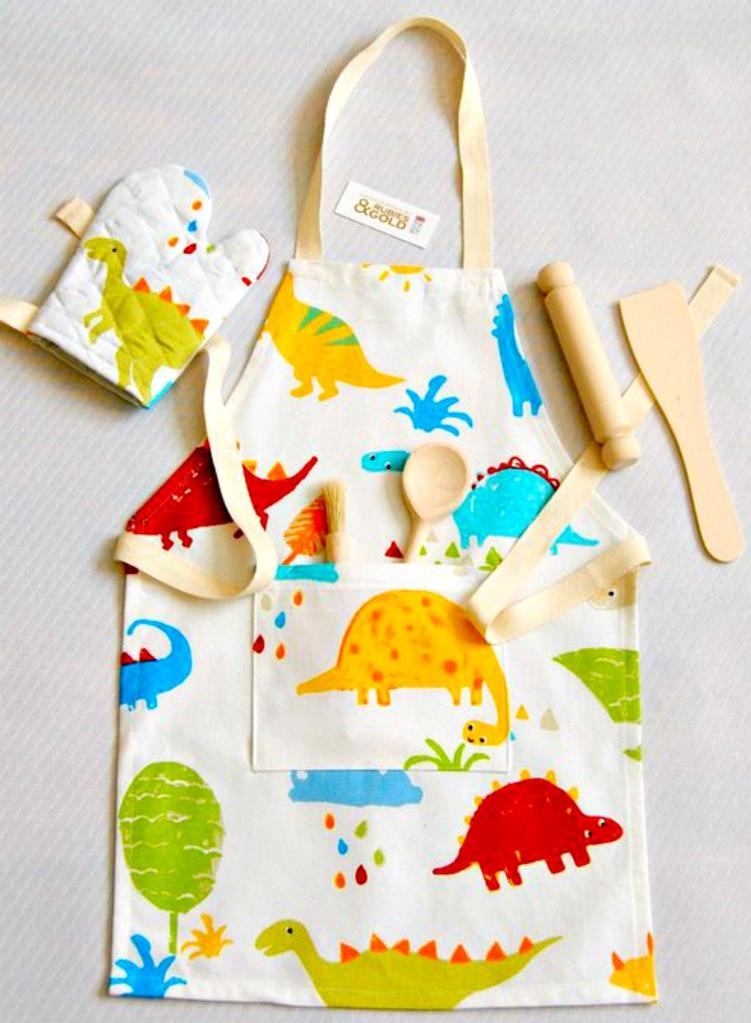 Kid's Apron/Wood Utensils