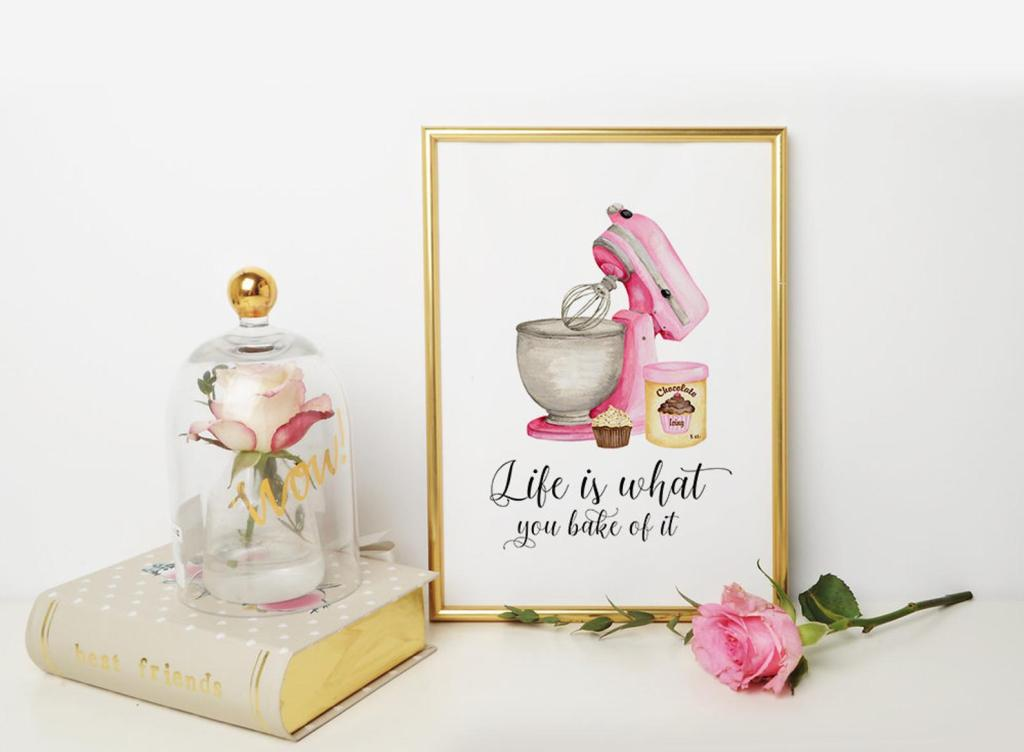 Life is what you bake of it Kitchen Wall Art
