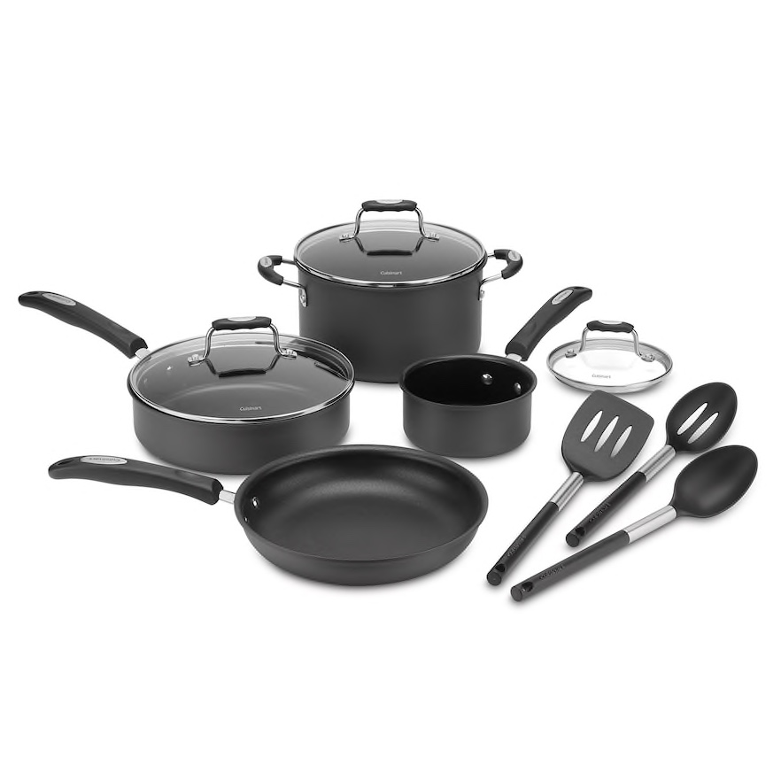 Cuisinart 10-piece Hard-Anodized Cookware Set